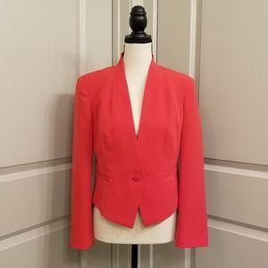 Rachel Roy Bright Coral Pink Single Button Blazer